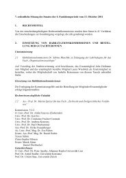 7. ordentliche Sitzung - Senat - Universität Wien