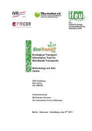 Ecological Transport Information Tool for Worldwide ... - EcoTransIT