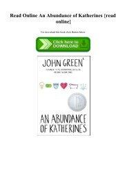 Of ebook abundance an katherines download