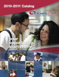 2010 - 2011 Catalog - Atlantic Cape Community College