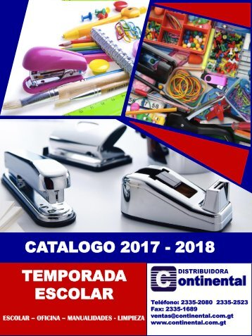 Catalogo Continental 2018 - Escolar