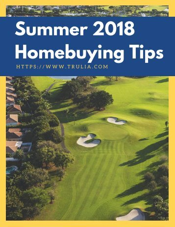 Summer 2018 Homebuying Tips