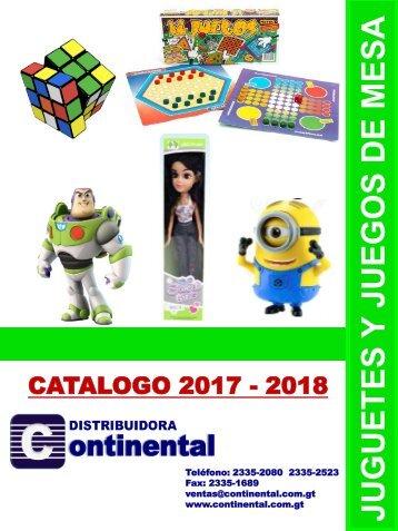 Catalogo Continental 2018 - Juegos y Juguetes