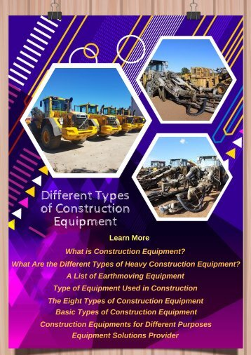 Different Types of Construction Equipment