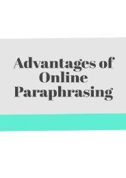 Advantages of Online Paraphrasing