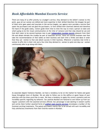 Why pay more for female escort service in mumbai