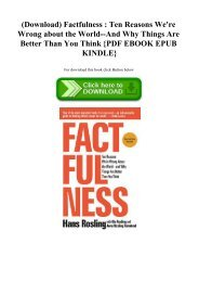 (Download) Factfulness  Ten Reasons We're Wrong about the World--And Why Things Are Better Than You Think {PDF EBOOK EPUB KINDLE}
