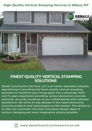 High-Quality Vertical Stamping Services in Albany NY