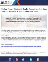 United States Electronic Brake System Market Size, Share, Overview, Scope and Outlook 2025