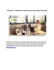 CEO Chat – A Platform to Get Business Tips & Ideas via Audio
