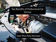 Top-Benefits of Professional Car Service