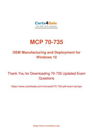 Latest Microsoft 70-735 Exam Dumps 100% Pass Guarantee - Try Latest Microsoft 70-735 Exam Demo