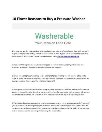 6 Washerable
