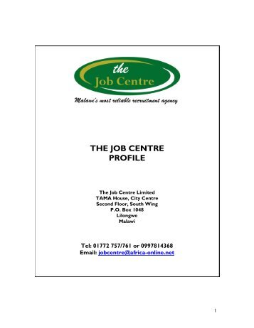 JOB CENTRE PROFILE 2018-converted