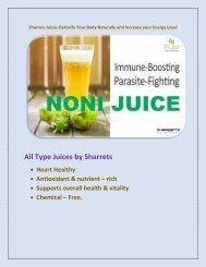 Sharrets Juices Detoxify Your Body Naturally and Increase your Energy Level
