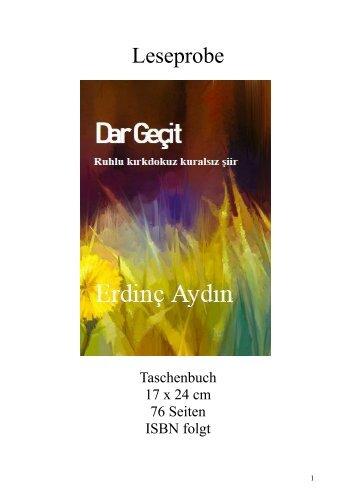"""Leseprobe """"Dar Gecid"""" von Erdinç Aydın"""