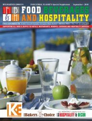 Food Beverages and Hospitality September 2018