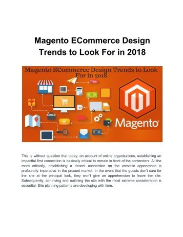 Magento ECommerce Design Trends to Look For in 2018
