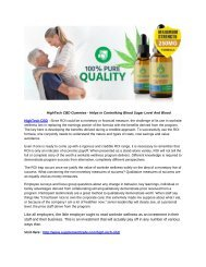 HighTech CBD Gummies - Helps in Controlking Blood Sugar Level And Blood