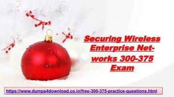 Free 300-375 Exam Dumps - Latest [2018] Cisco 300-375 Braindumps