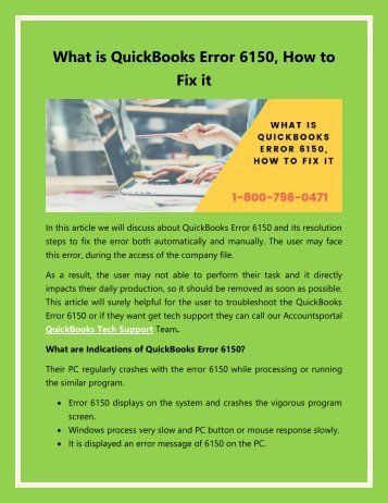 What is QuickBooks Error 6150, How to Fix it