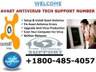 Avast Antivirus Customer Service+1800-485-4057 Number