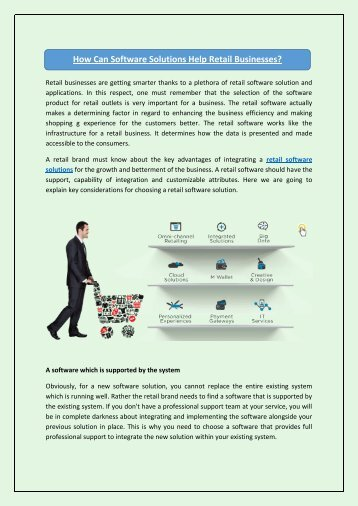 How Can Software Solutions Help Retail Businesses