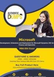 MB6-894 Dumps PDF | Free Microsoft MB6-894 Exam Dumps Demo