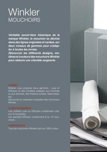 Leaflet Winkler Mouchoirs Automne-Hiver 2018