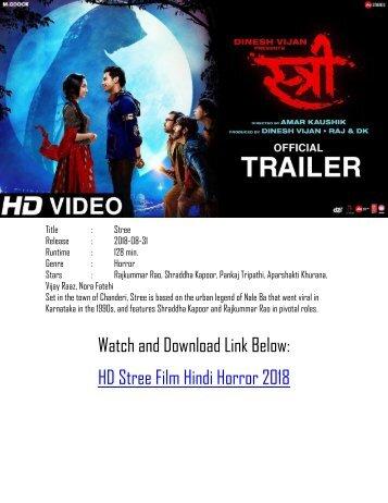 Watch Full Stree 2018 Hindi Online Film Horror
