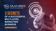 3 Secrets of A Successful Multi-Level Marketing Business