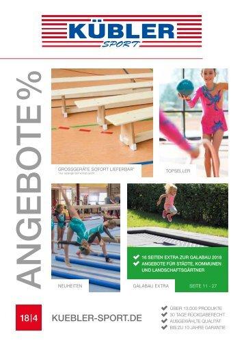 Kübler Sport: Angebote - 4. Quartal 2018