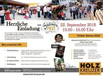 Holz Kreuzer Septemberfest 2018