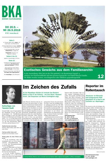 Berner Kulturagenda N° 37