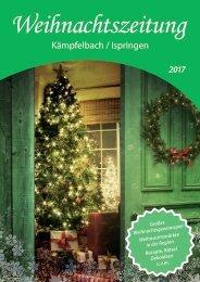 Weihnachtszeitung 2017 - Kämpfelbach/Ispringen