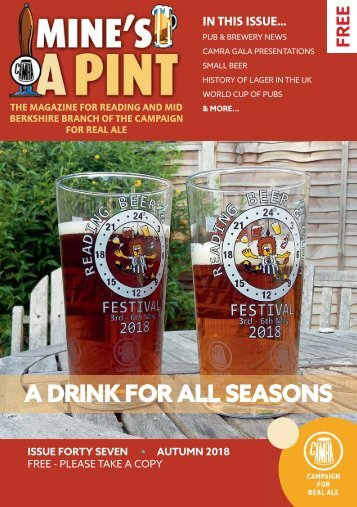 Mine's a Pint - Autumn 2018
