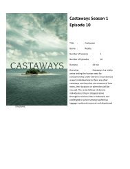 Watch Castaways Season 1 Episode 10 We're in This Together.