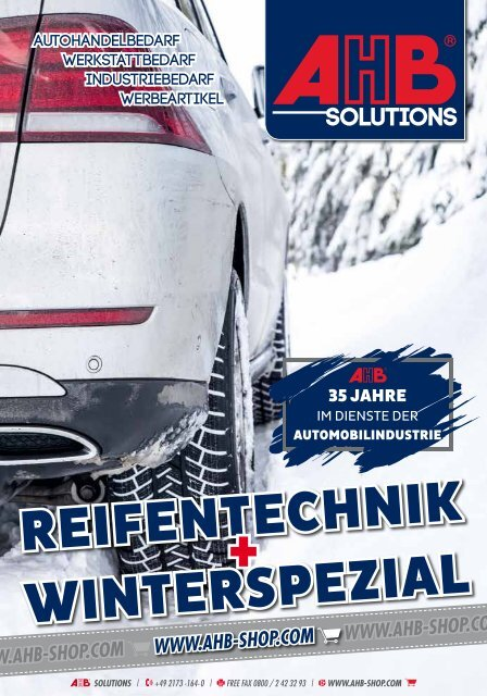 AHB Reifentechnik und Winterspezial 2018
