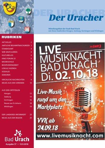 Der Uracher KW 37-2018