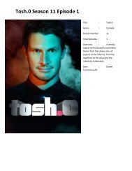 You can watch tosh.0 Season 11 Episode 1 online here