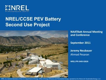 NREL/CCSE PEV Battery Second Use Project (Presentation), NREL ...