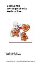 Lebkuchen Werbegeschenke Weihnachten mit Logo