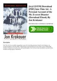 [ix@12#T59] Download [PDF] Into Thin Air A Personal Account of the Mt. Everest Disaster (Download Ebook) By Jon Krakauer