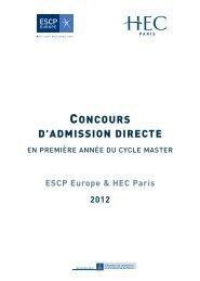 brochure du Concours d'Admission Directe - Dac-concours.net