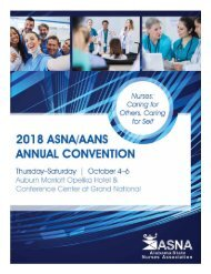 2018 ASNA/AANS Annual Convention