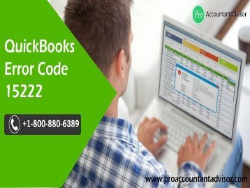 QuickBooks Error Code 15222 - Easy Troubleshooting Steps