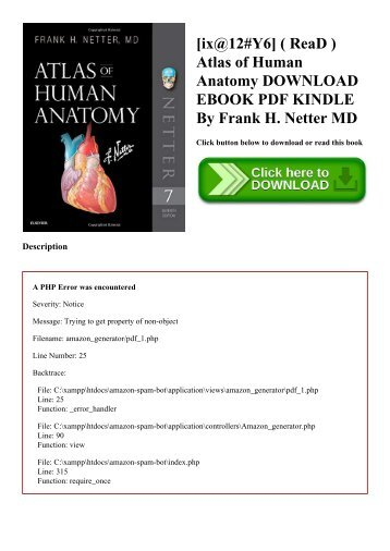[ix@12#Y6] ( ReaD ) Atlas of Human Anatomy DOWNLOAD EBOOK PDF KINDLE By Frank H. Netter MD