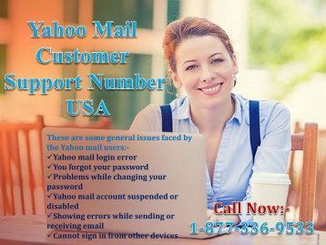 Yahoo Mail problem Support Number USA 1-877-336-9533