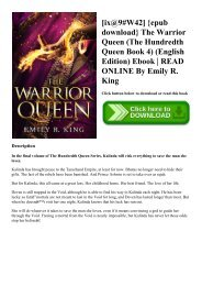 [ix@9#W42] {epub download} The Warrior Queen (The Hundredth Queen Book 4) (English Edition) Ebook  READ ONLINE By Emily R. King