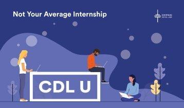 CDL U - Not Your Average Internship